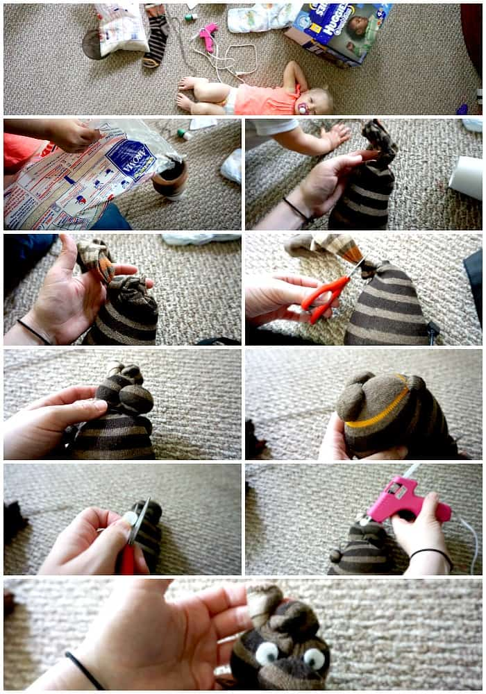 Tutorial for making a sock out of a bear tutorial