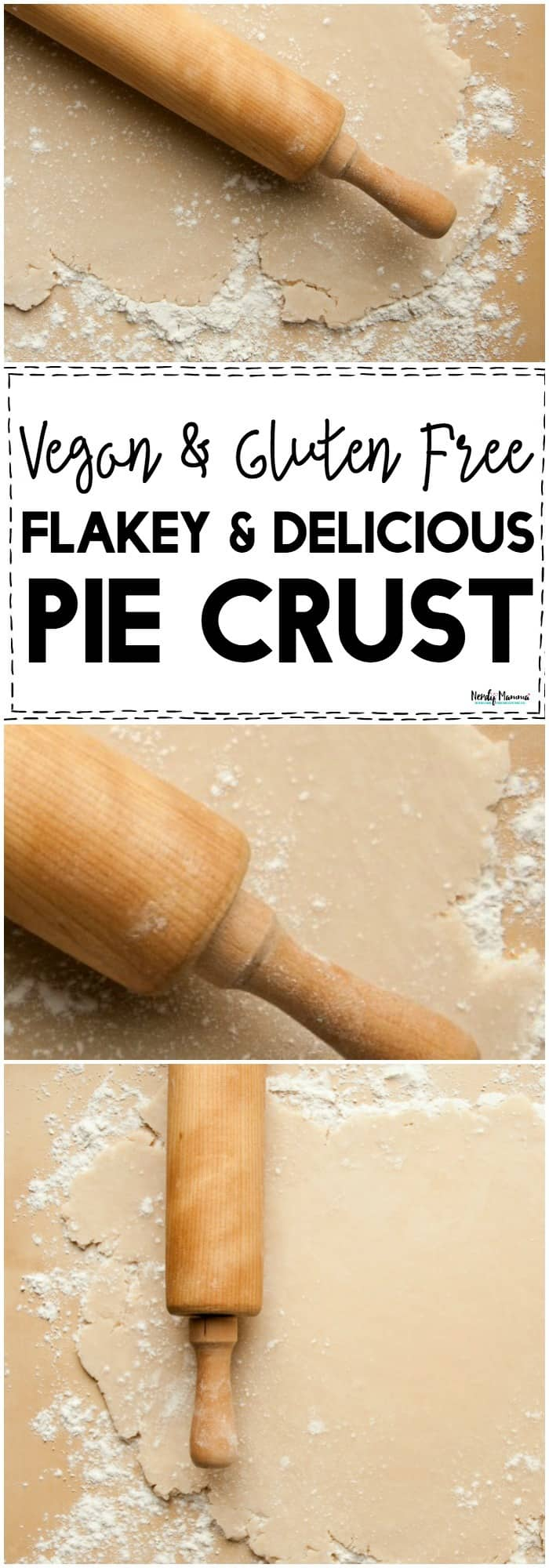 OMG, you've GOT to try this Flakey & Delicious VEGAN & GLUTEN FREE Pie Crust! Seriously, it SAVED my Thanksgiving! #glutenfree #piecrust #vegan #pie #Thanksgiving #recipes