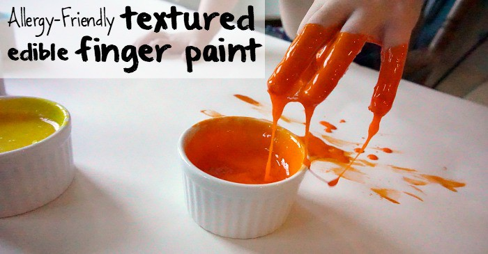 allergy-friendly textured edible finger paint fb