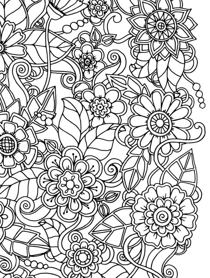 pattern coloring pages for teens - photo#10