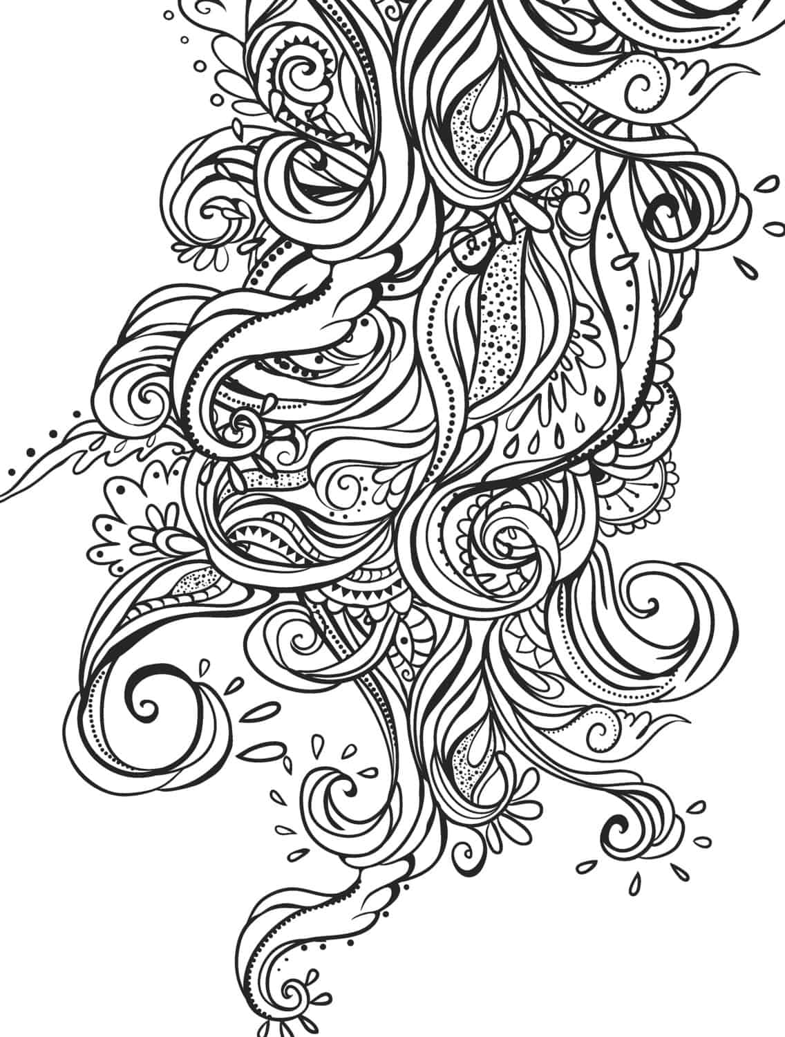 15 CRAZY Busy Coloring Pages for Adults - Page 5 of 16 - Nerdy Mamma