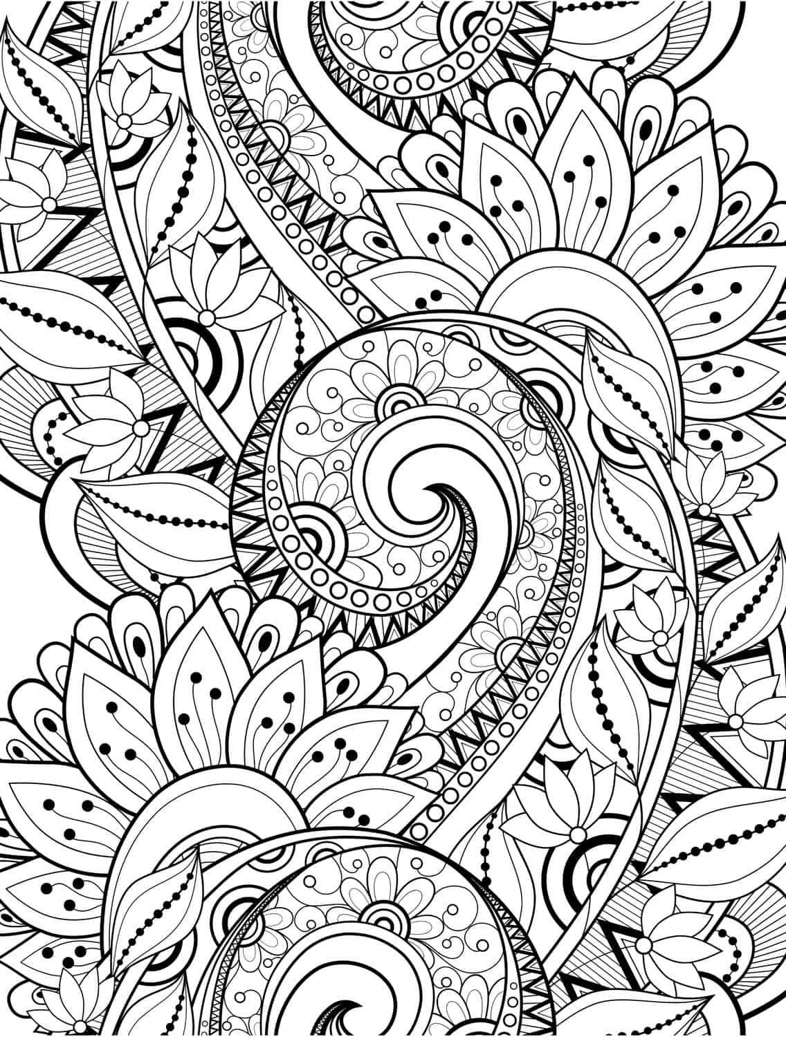 15 CRAZY Busy Coloring Pages for Adults Page 6 of 16 Nerdy Mamma