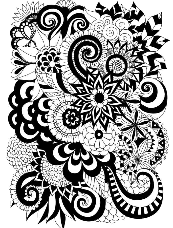 easy adult coloring page free upload