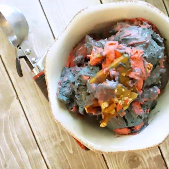 easy recipe for vegan toffee ice cream sq