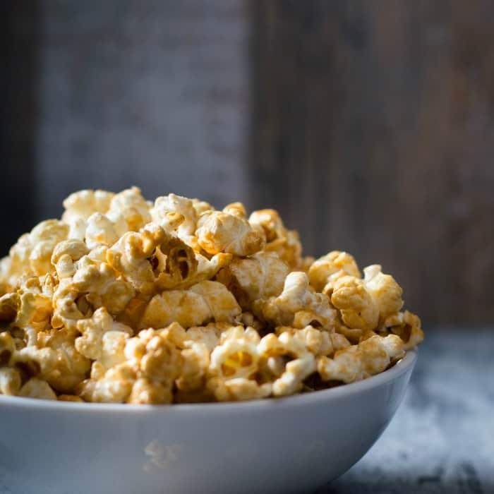 easy vegan caramel corn recipe sq