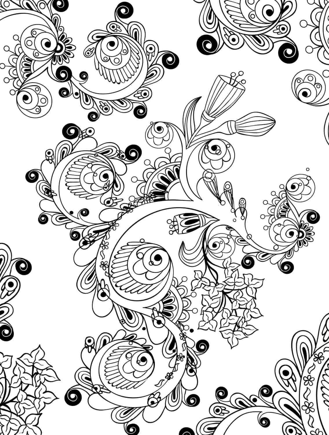 15 crazy busy coloring pages for adults - page 14 of 16