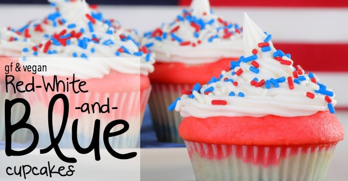 Gluten Free And Vegan Red White And Blue Cupcakes Nerdy