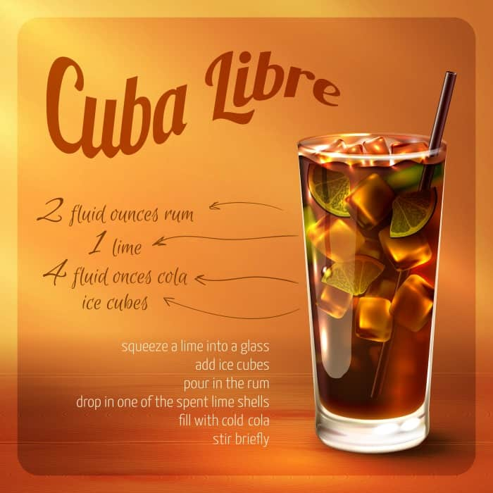 how to make a cuba libre mixed drink