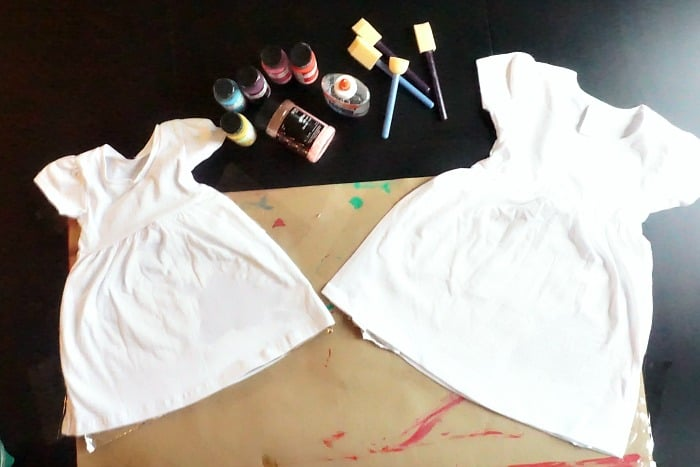 how to make a resist paint shirt with kids ingredients