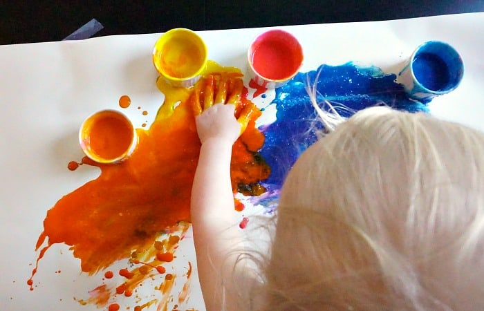 how to make allergy-friendly edible finger paint feature