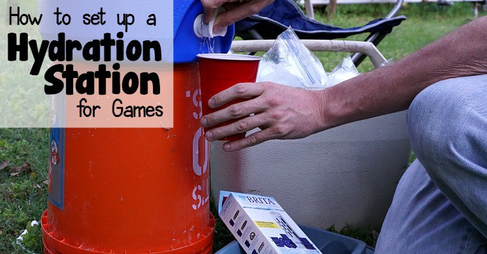 how to set up a hydration sation for games fb