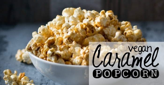 recipe for vegan caramel popcorn fb