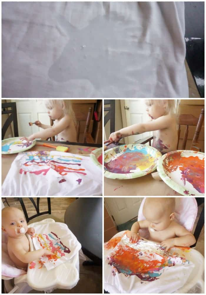 tutorial for doing a resist-paint shirt with a toddler
