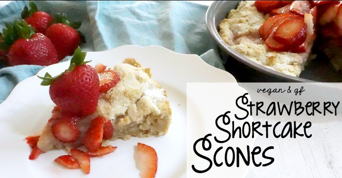 vegan and gluten-free strawberry shortake scones fb