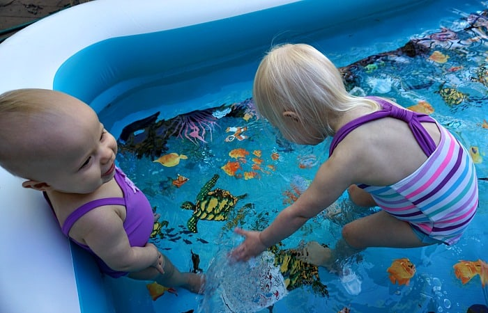 what to do to introduce baby to the swimming pool feature