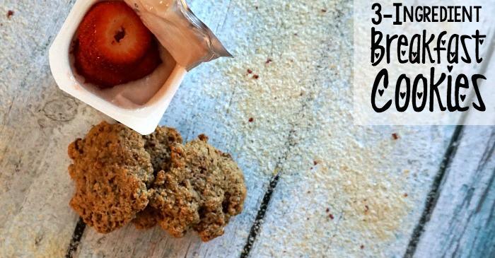 3-ingredient breakfast cookies fb