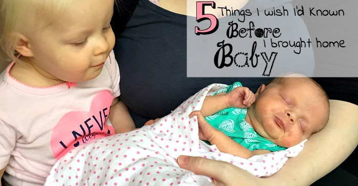5 things I wish i'd known before I brought home baby fb
