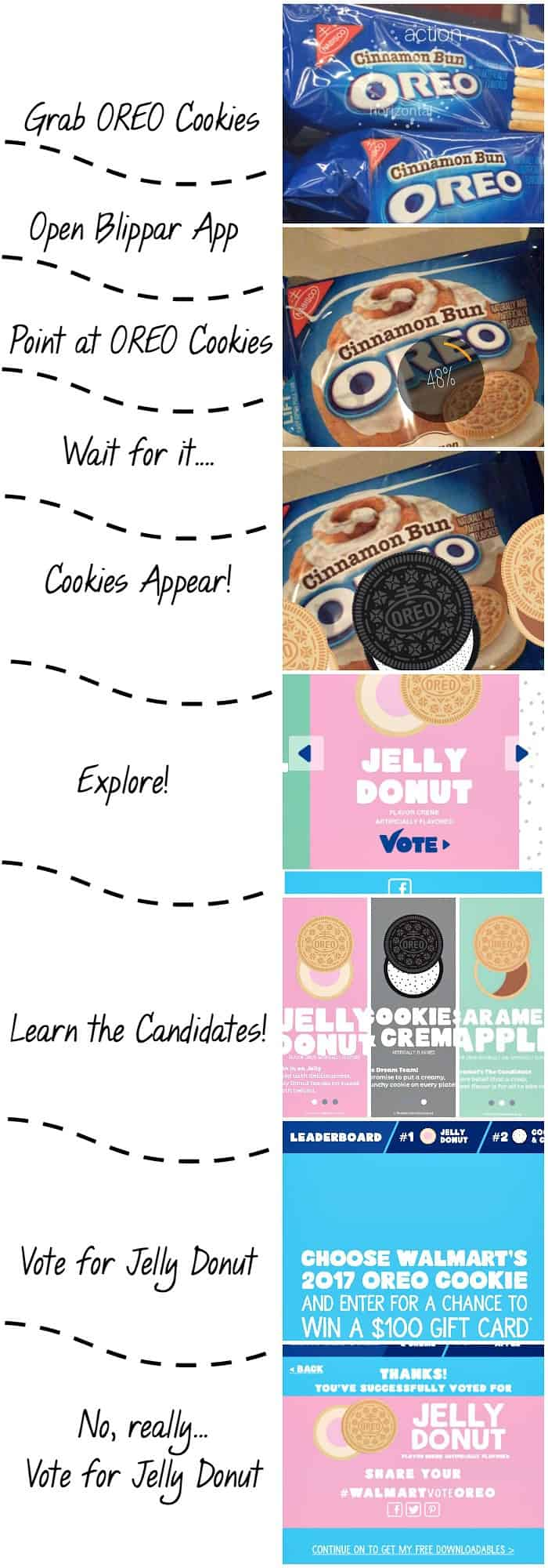 Blippar App tutorial Vote for Jelly Donut tutorial