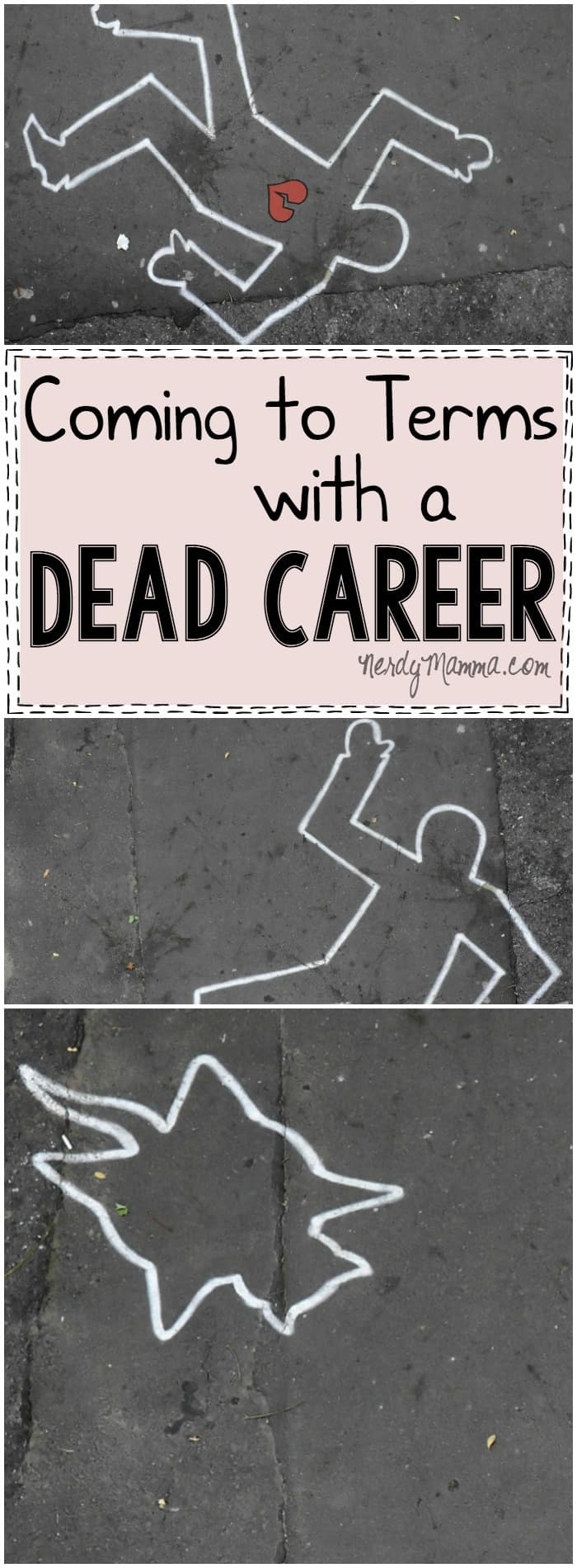 Coming to Terms with a Dead Career can be so hard. This mom's perspective is so simple--but indicative of how I bet a lot of moms feel.