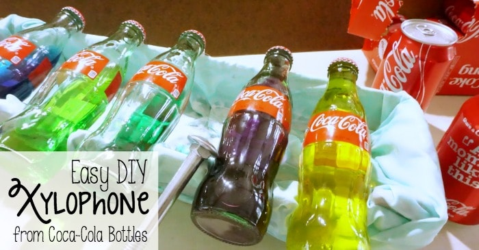 Easy DIY Xylophone from Coca-Cola Bottles fb
