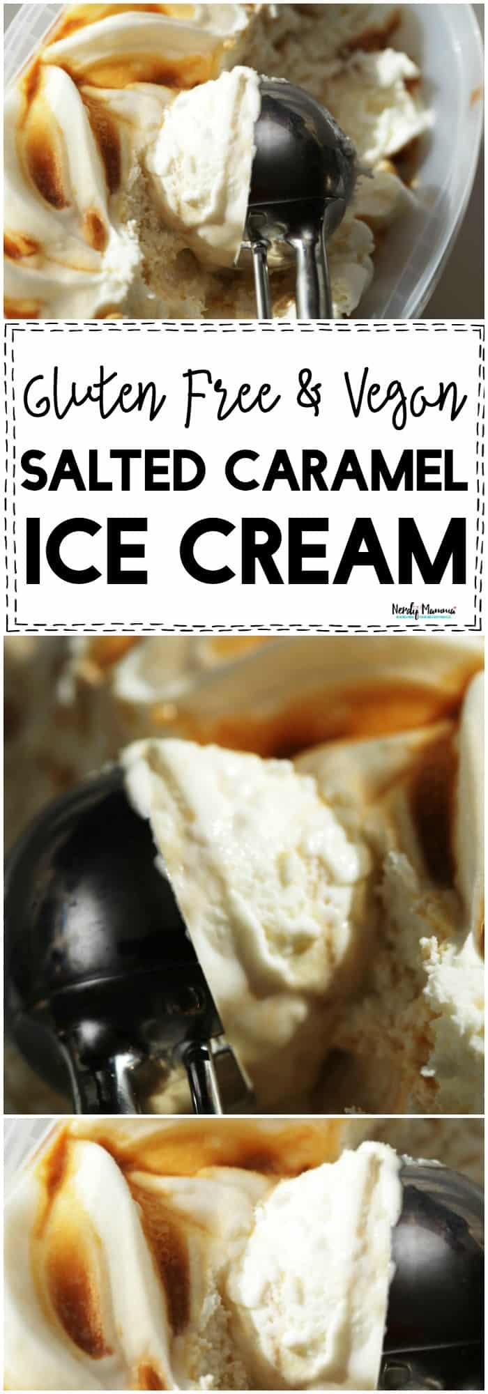 This recipe for vegan and gluten-free salted caramel ice cream is so EASY! I love it!