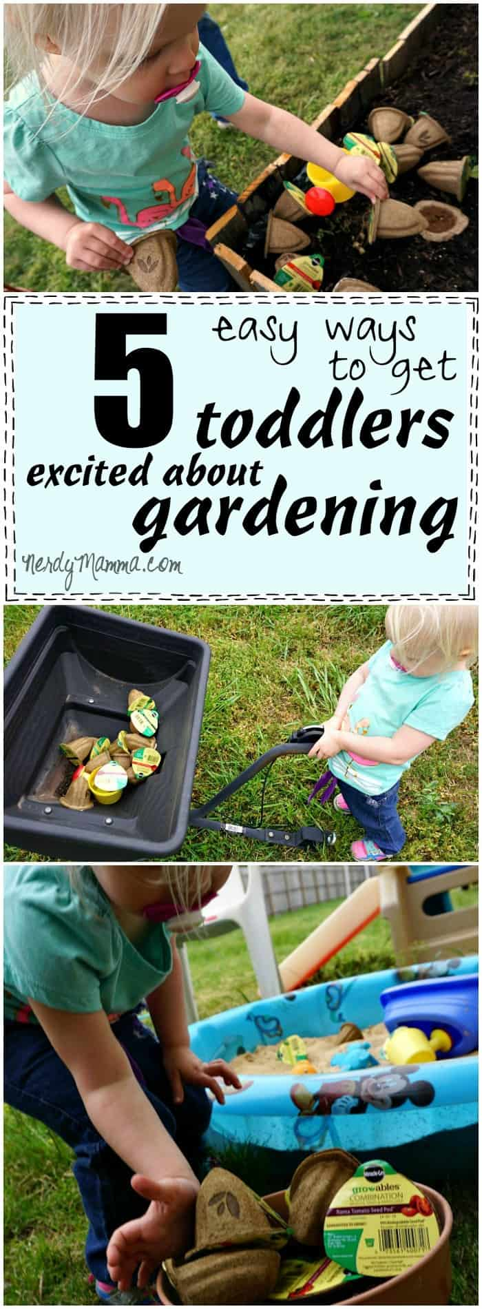 I love these 5 easy ways to get toddlers excited about gardening! This is so easy!