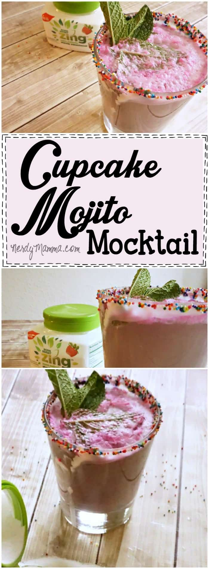 I love this Cupcake Mojito Mocktail! What an easy way to jazz-up a boring evening. LOL!