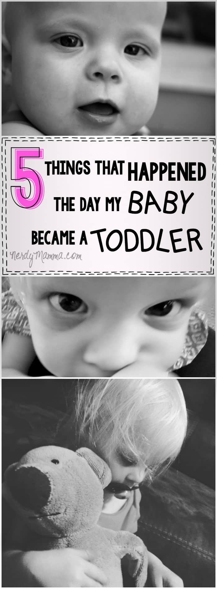 I love this cute homage to the things that happen when babies turn into toddlers! So cute how gushy this mom is...