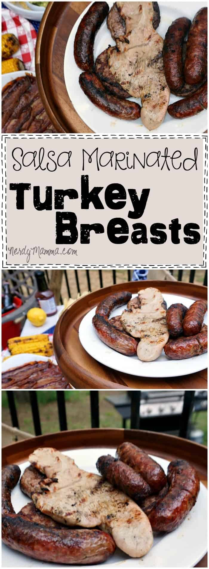 I love this easy recipe for salsa marinated Turkey Breasts. They sound like they'd be so moist and tender...great idea!