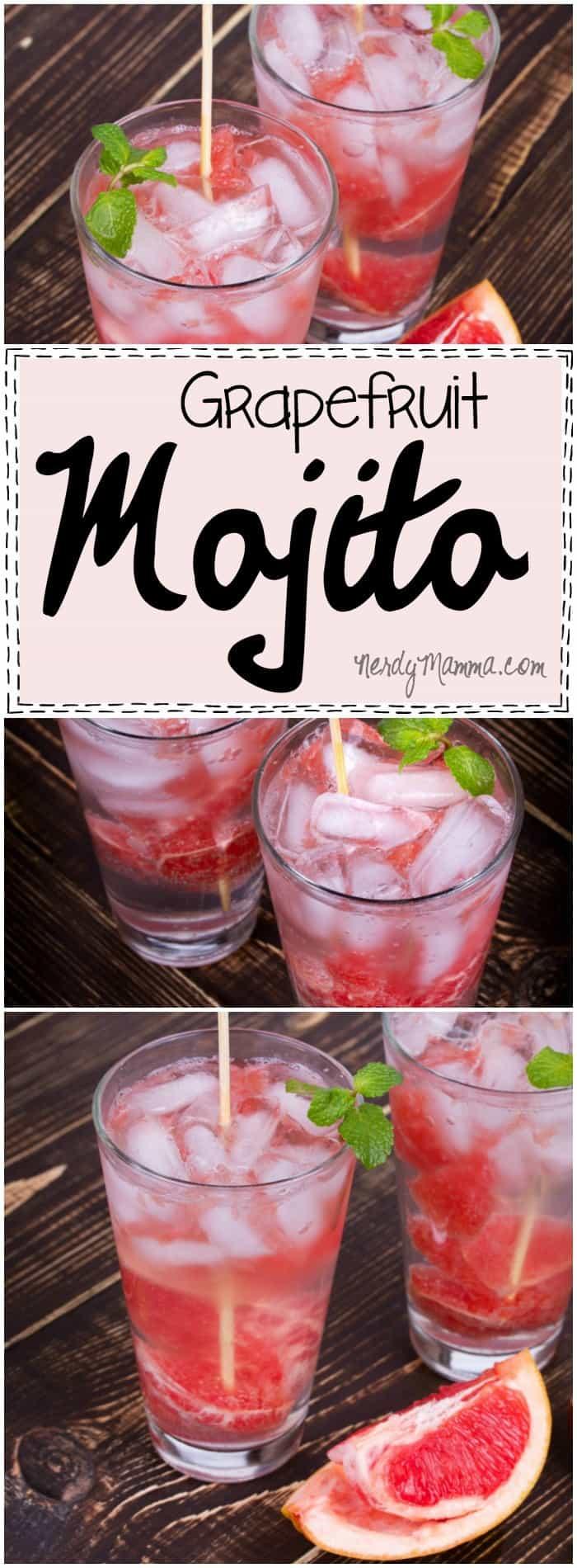I love this recipe for grapefruit mojitos! I had no idea they were so easy!