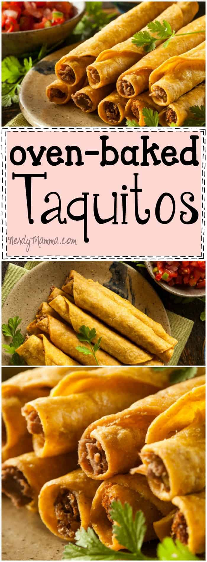I love this recipe for homemade oven baked taquitos. Seriously. Homemade baked taquitos are so easy--and sounds so TASTY! #taquitos #ovenbakedtaquitos #homemadebakedtaquitos #homemadetaquitosbaked #mexicanfood #food #recipe #mexicanreipe #mexicanrestaurantfood