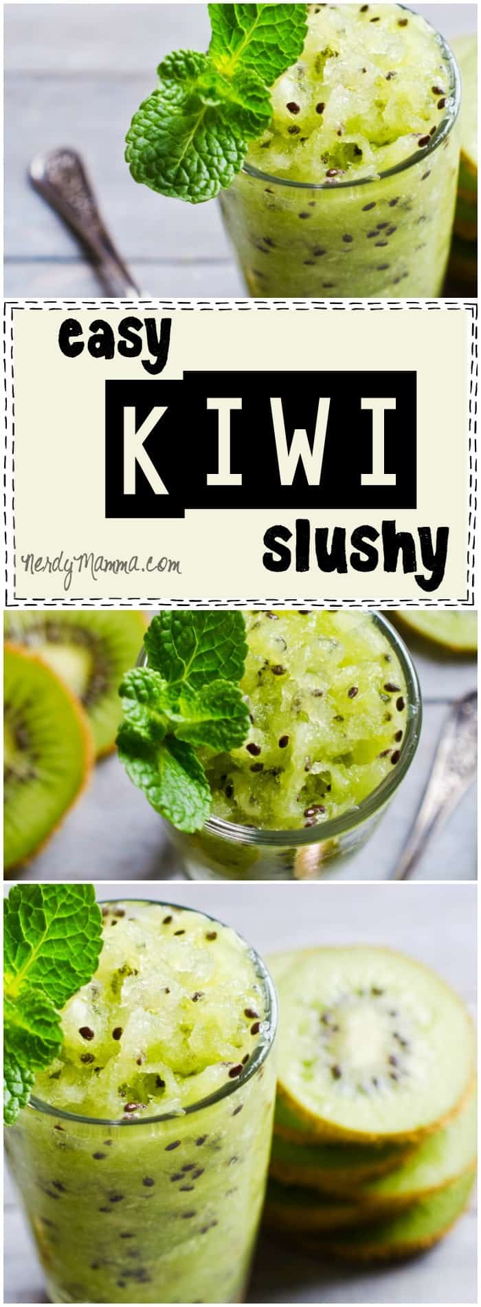 I love this recipe for this easy kiwi slushy! It sounds like it would be so refreshing. And my kids will really enjoy it.
