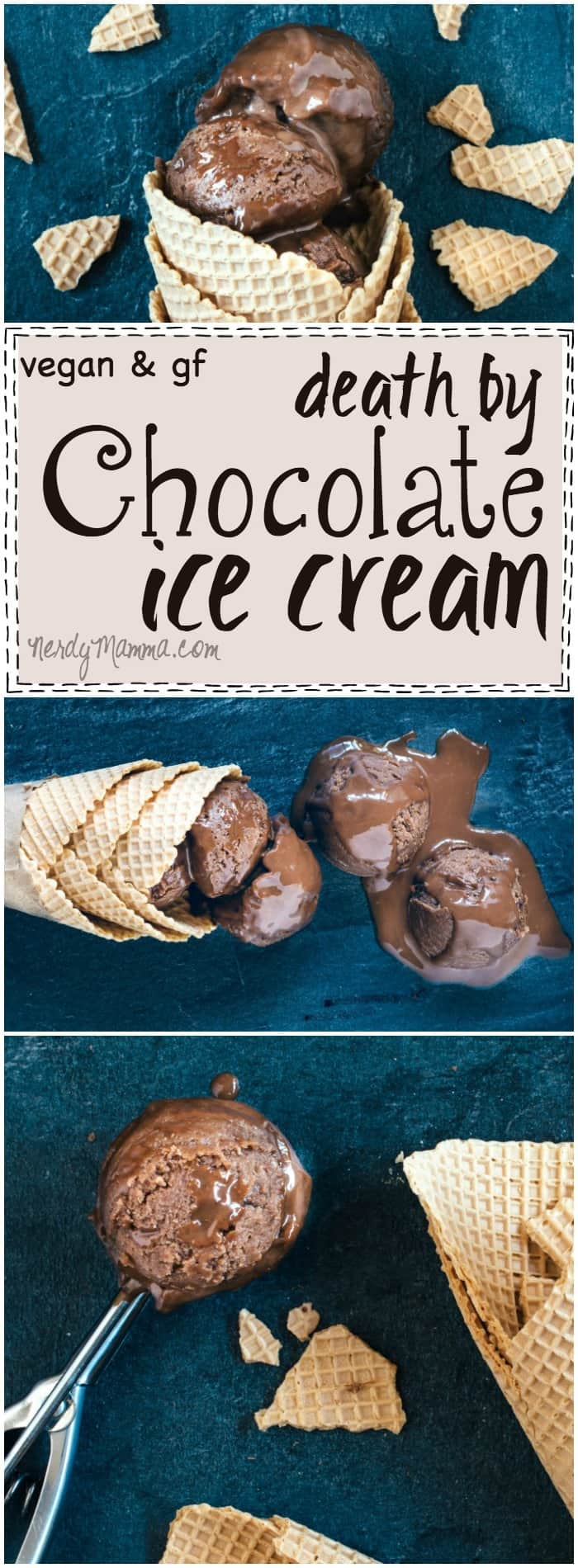 Mmmm...I cannot wait to try this recipe for Vegan and Gluten-Free Death by Chocolate Ice Cream. It sounds heavenly (no-dairy, no churn!). Seriously. In LOVE.