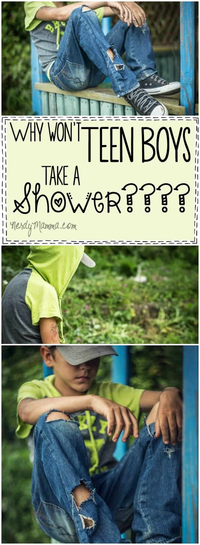 Oh, this mom. This mom is so funny. Her thoughts on why teen boys don't want to shower is SO FUNNY. I laughed so hard.