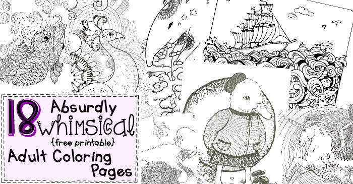 silly free printable adult coloring pages fb