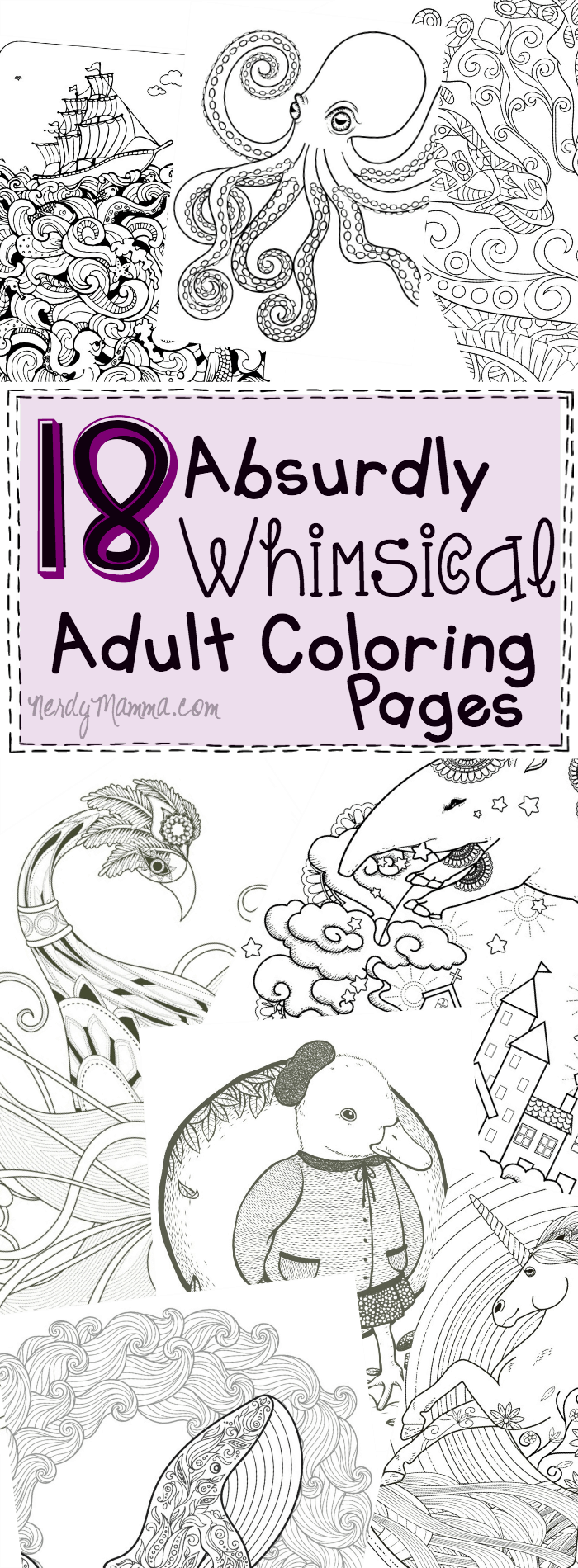 18 absurdly whimsical coloring pages nerdy mamma