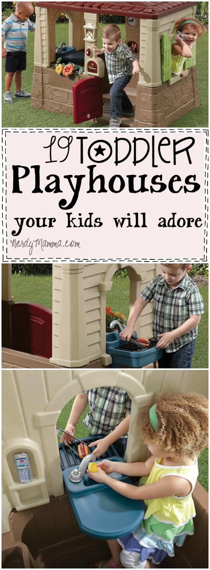 These 19 Toddler Playhouses are so cute! I want them all, but I guess my kids just need one...maybe that Pirate Ship...