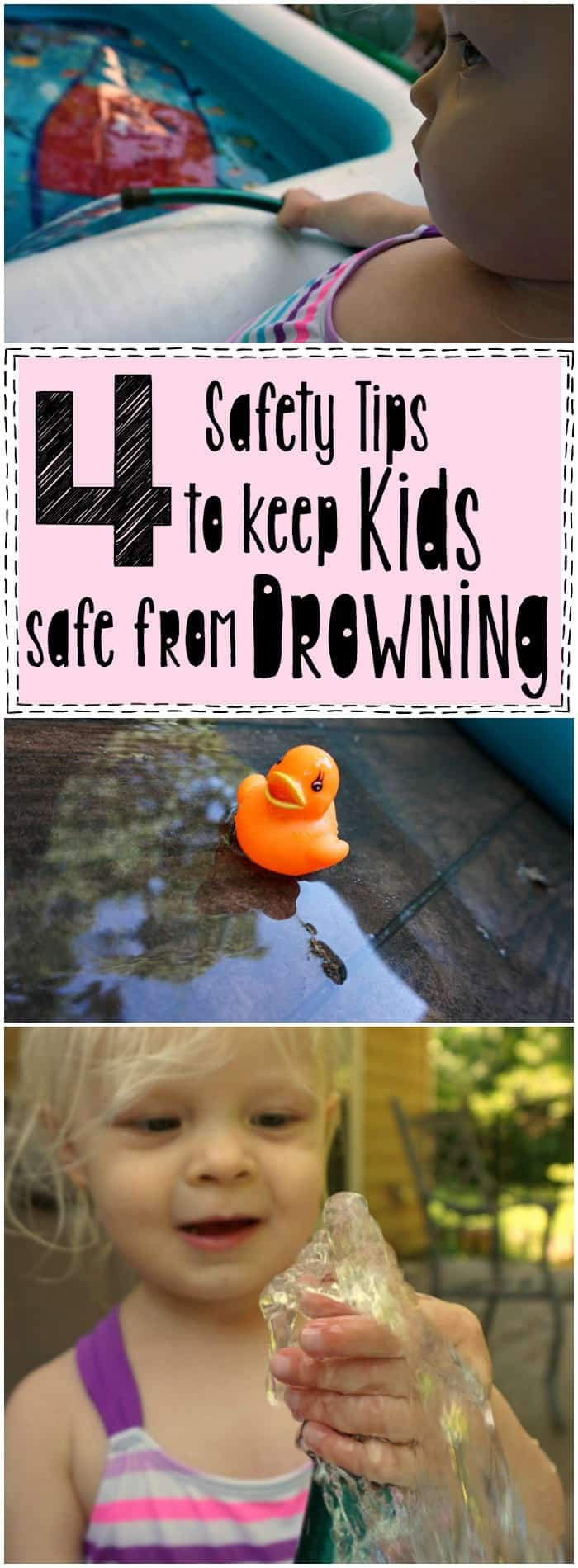 These 4 Safety Tips to Keep Kids Safe From Drowning are so easy to remember!