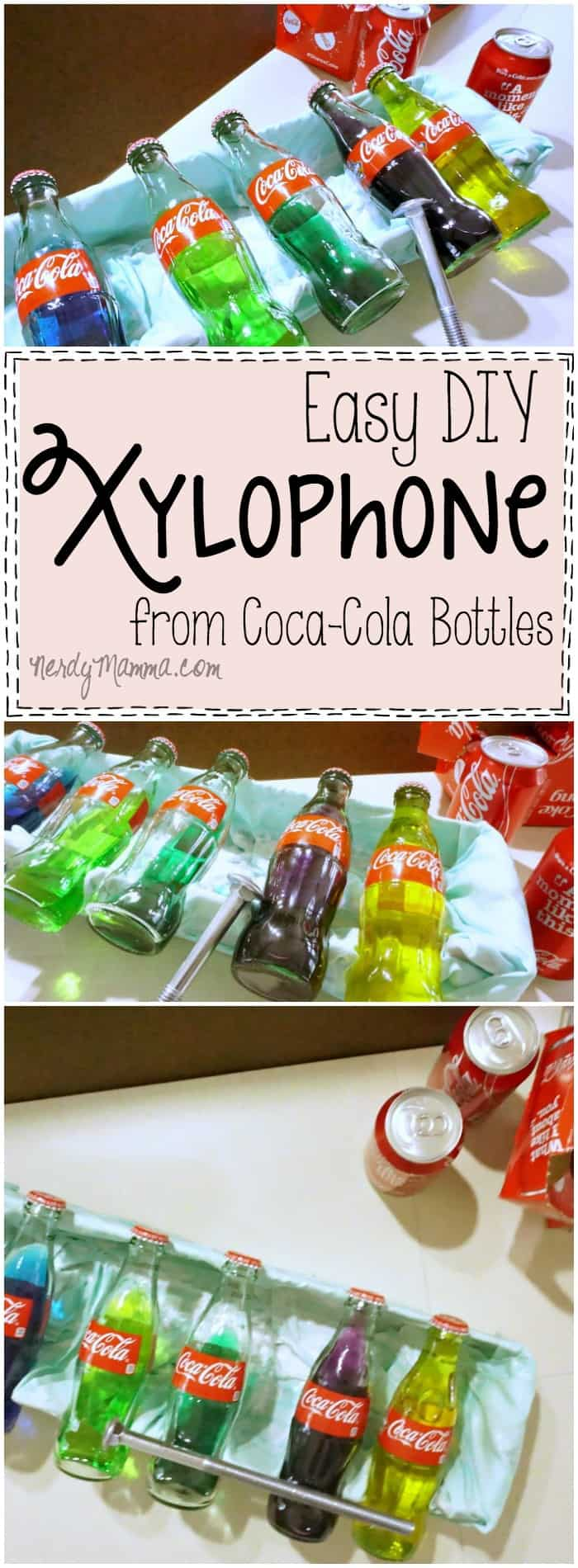 This DIY Xylophone project is so cute--and EASY! I totally want to make this! LOL!