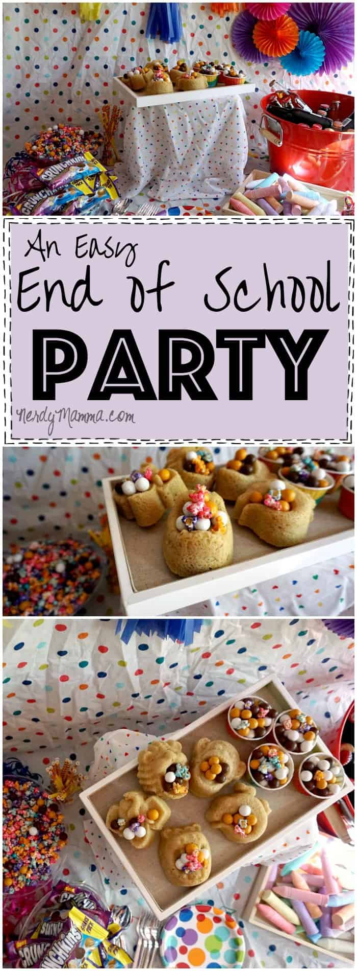 This end of school year party is so cute! And easy! Definitely doing this for the kids this year!