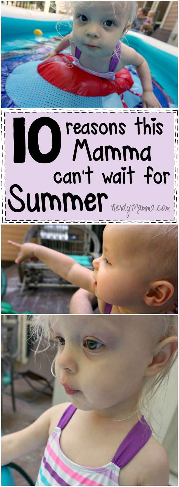This mom's reasons for being excited about the summer--hilarious. She's so funny!