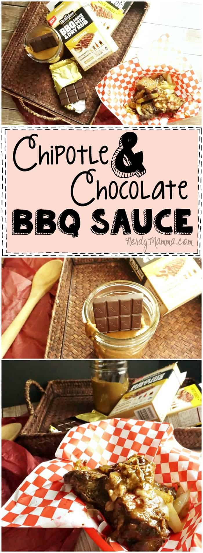 This recipe for Chipotle and Chocolate BBQ Sauce sounds so...interesting. I love the idea. Can't wait to try it...