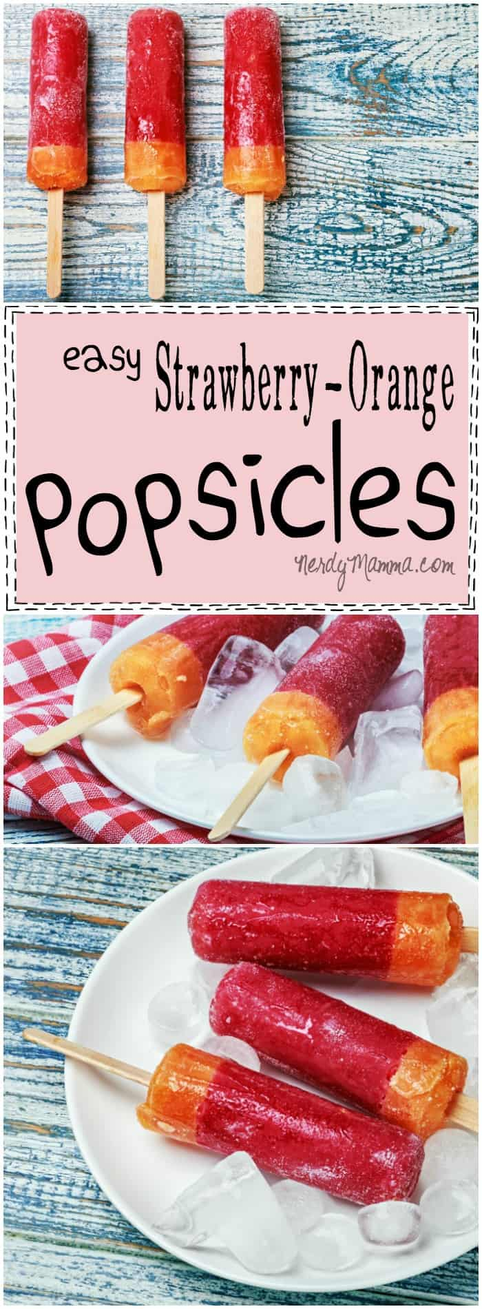This recipe for Easy Strawberry & Orange Popsicles Ah-Mazing. I can't wait to make these for the kids...so healthy and fun!