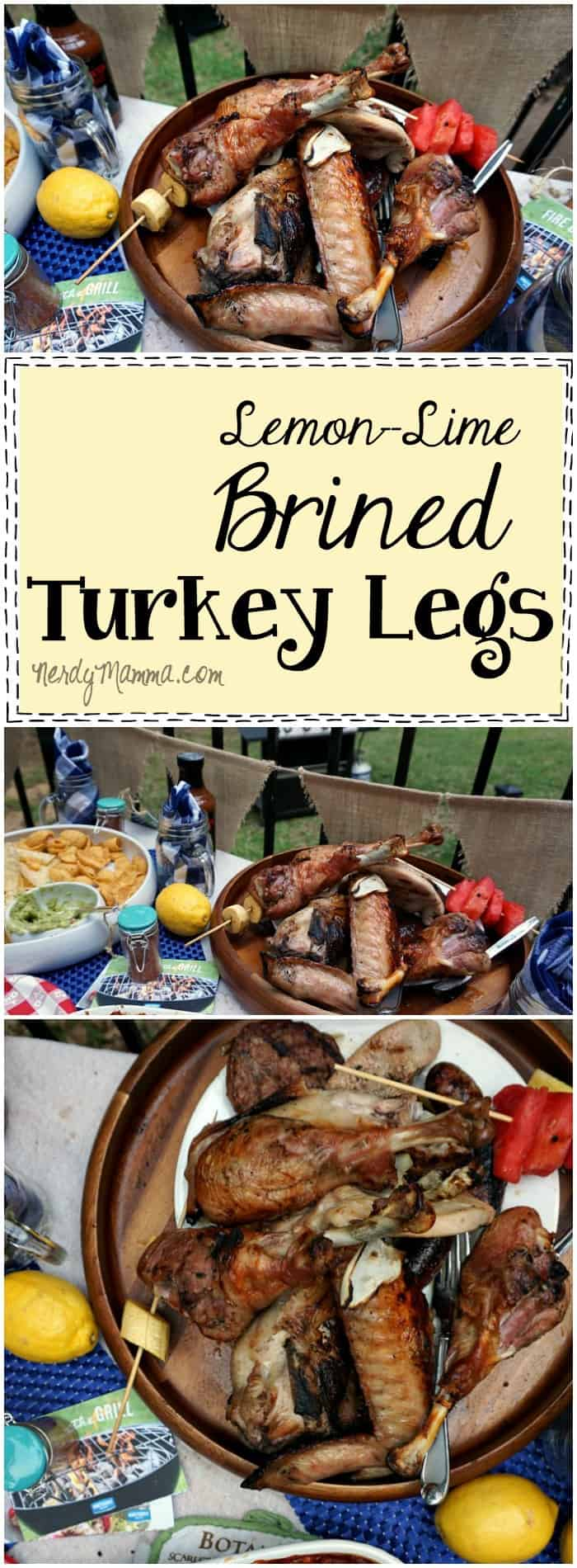 This recipe for Lemon-Lime Brined Turkey Legs is so easy!!! I can't wait to try it this summer on the grill!
