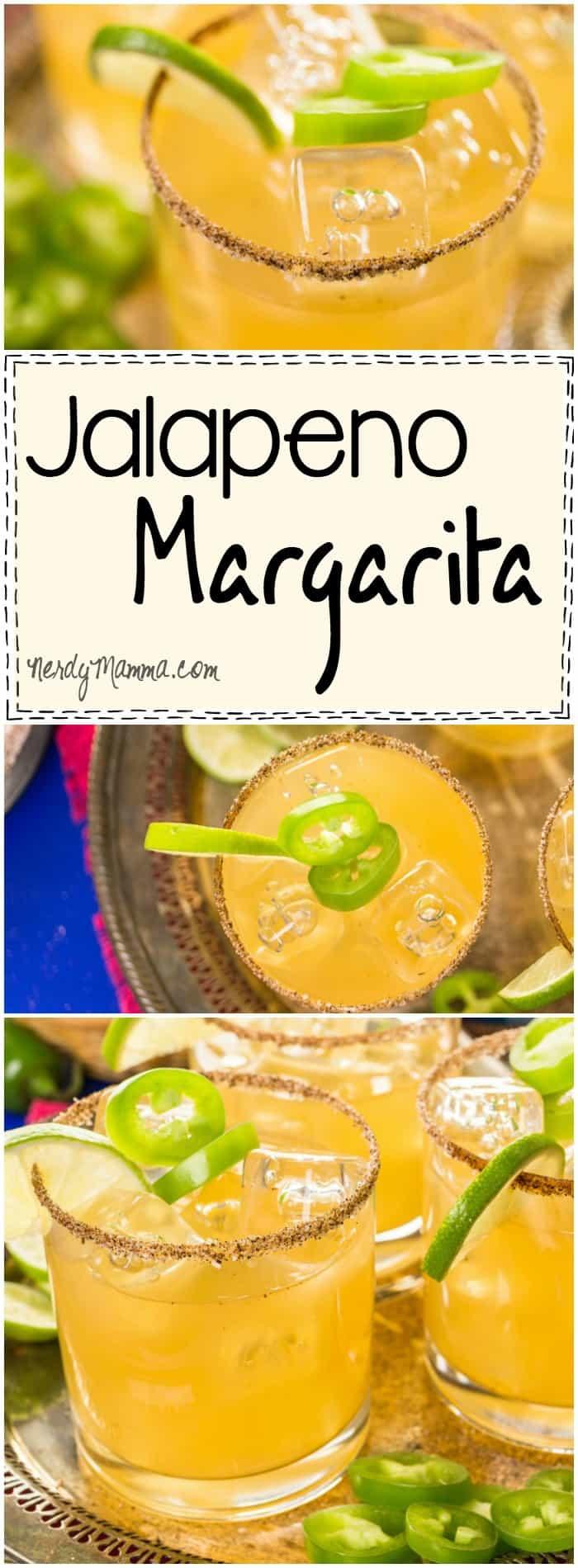 This recipe for a Jalapeno Margarita....woooooow. That sound like it has kick! LOL! I love it.