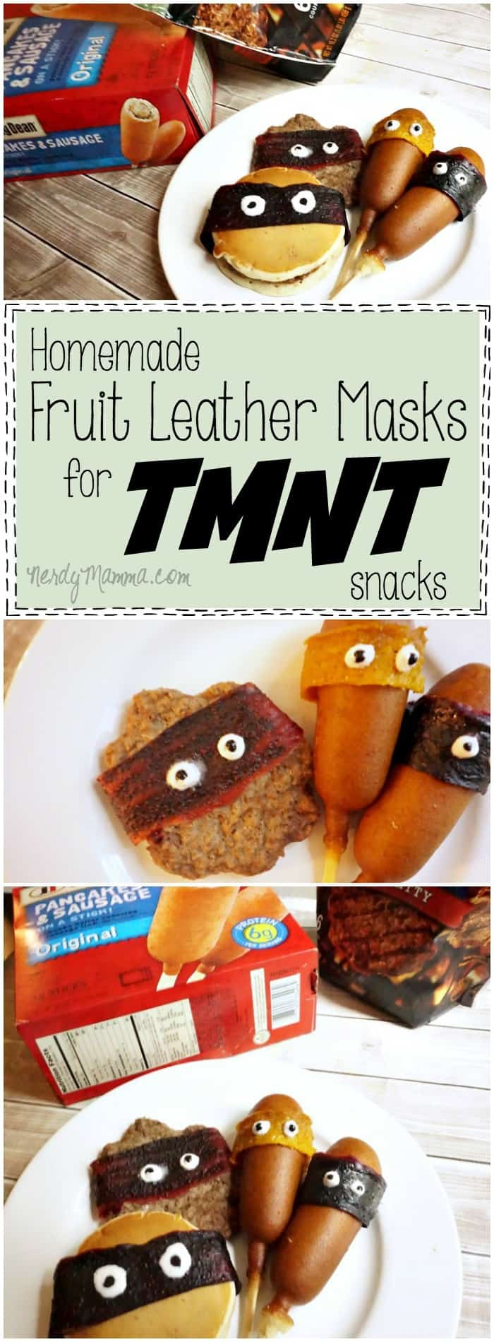 This recipe for homemade fruit leather for a little Teenage Mutant Ninja Turtle snack action is awesome! My kids are going to flip.