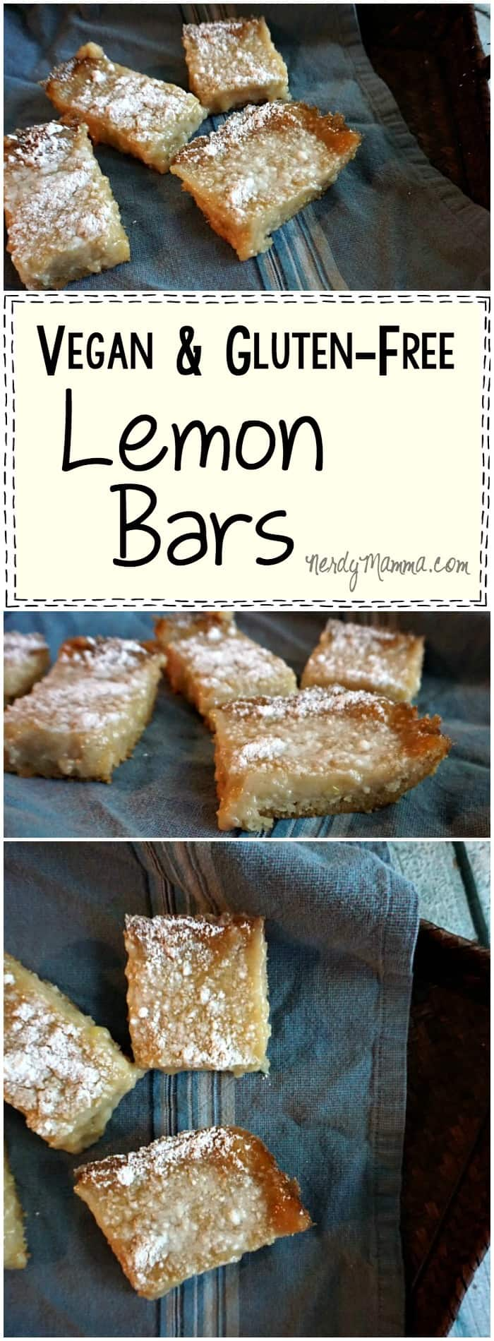 This recipe for vegan & gluten-free lemon bars...OMG. I had no idea these could be made without eggs. Genius. I love it.