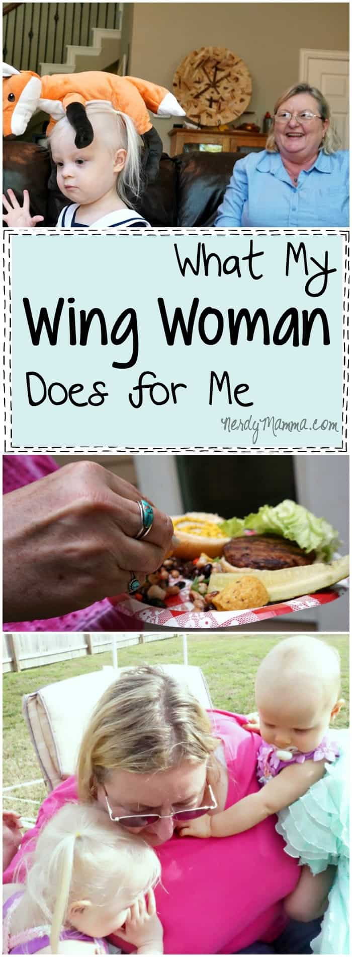 This woman's discussion on her wing woman Awesome.