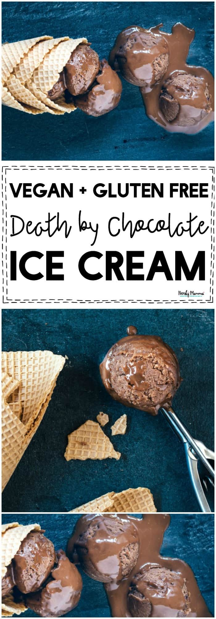 OMG FINALLY! A gluten free + vegan death by chocolate ice cream recipe that ACTUALLY takes delicious!!