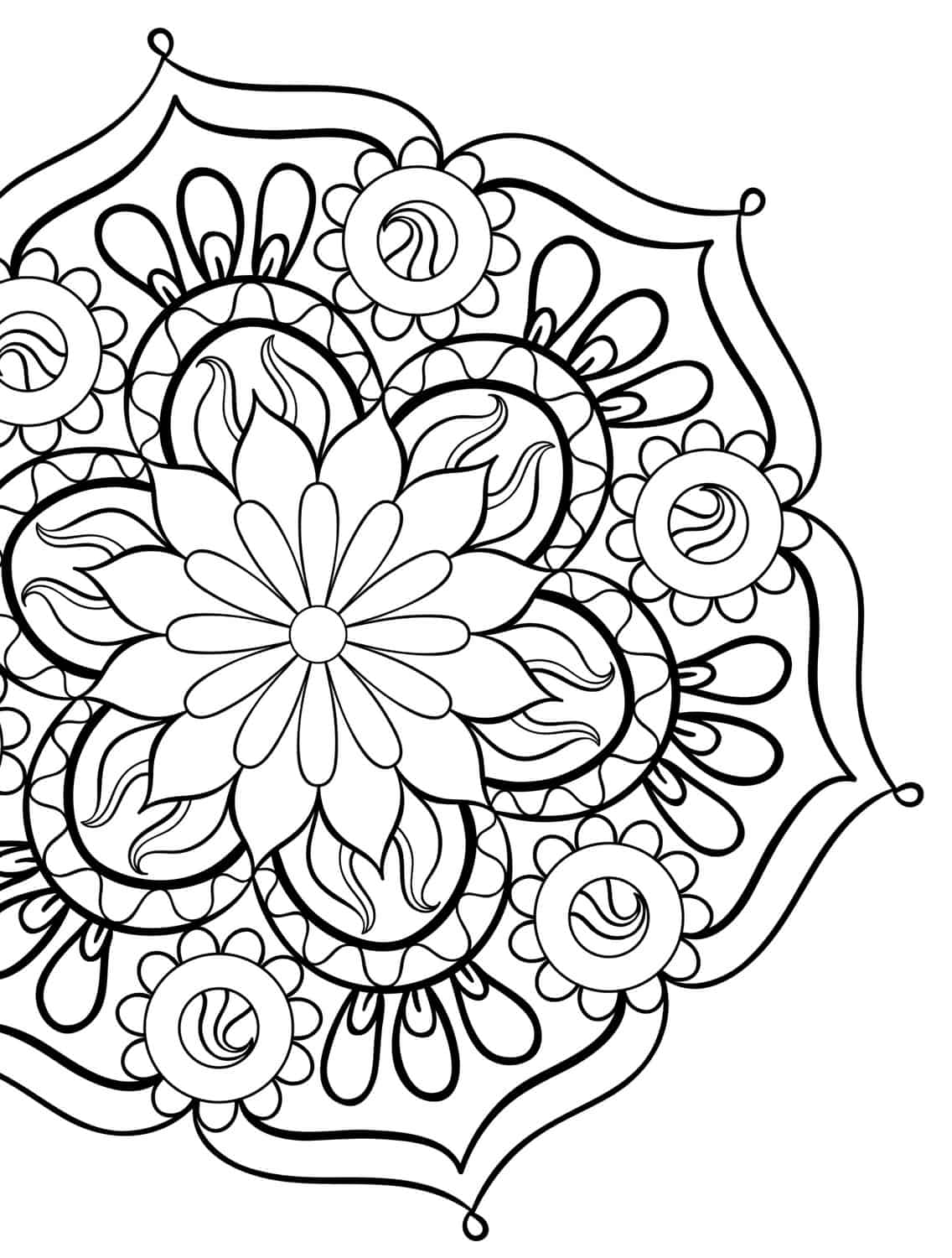 20 gorgeous free printable adult coloring pages page 2 for Adult coloring pages mandala
